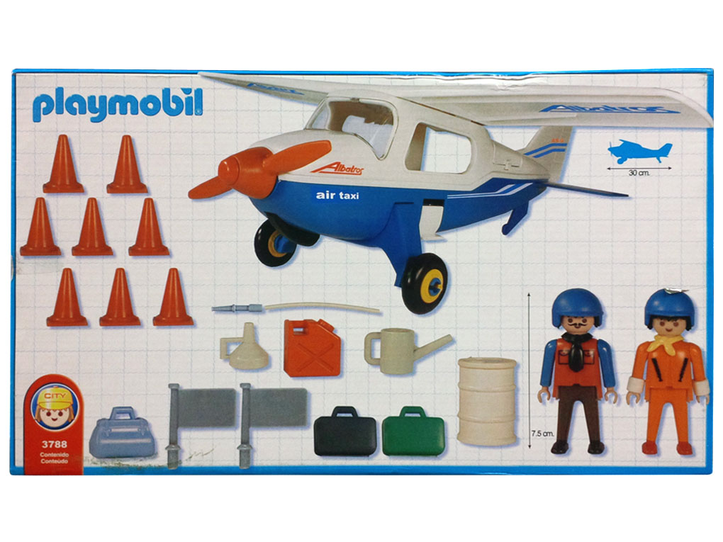 Playmobil 3788-ant - Blue Air Taxi - Back