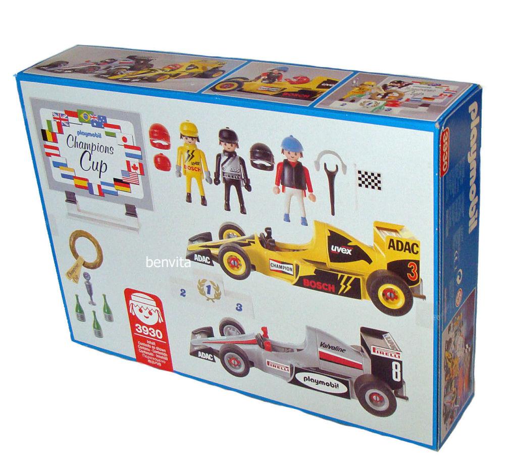 Playmobil 3930-ant - 2 Car Racing Set - Back