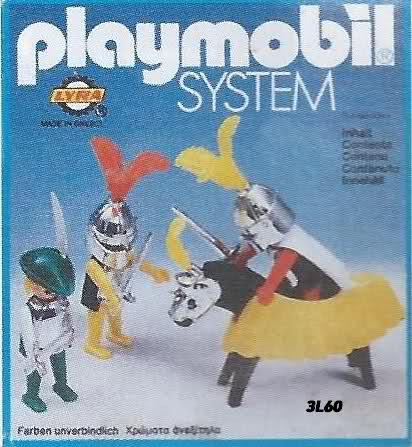 Playmobil 3L60-lyr - 3 Knights - Box