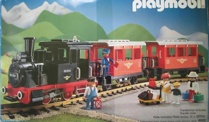 Playmobil 4002-usa - Passenger Train Set - Box