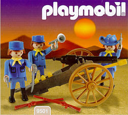 Playmobil 9501-ant - Union Soldiers with Artillery - Box