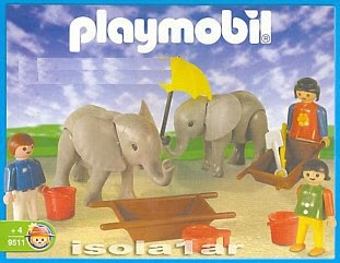 Playmobil 9511-ant - Elephant Keeper And Helpers - Box