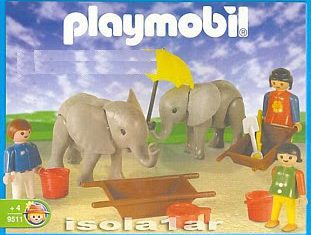Playmobil - 9511-ant - Elephant Keeper And Helpers