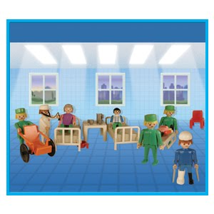 Playmobil 9535-ant - Nurses and Patients - Box