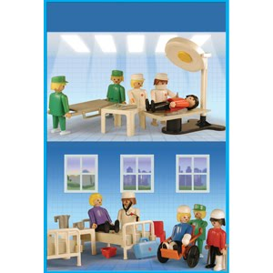 Playmobil 9538-ant - Hospital Set - Box