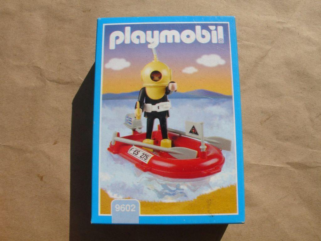 Playmobil 9602v1-ant - Diver And Raft - Box