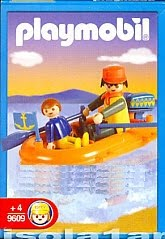 Playmobil 9609-ant - Dad And Son In Inflatable Dinghy - Box