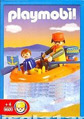 Playmobil - 9609-ant - Dad And Son In Inflatable Dinghy