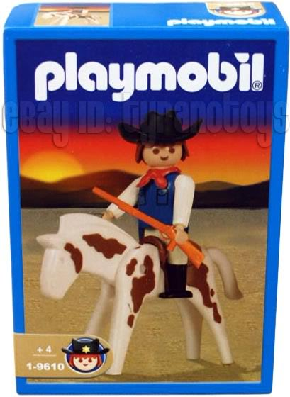 Playmobil 1-9610-ant - Cowboy with Horse - Box