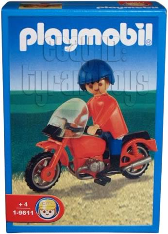 Playmobil 1-9611-ant - Man and Red Motorcycle - Box