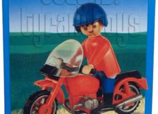 Playmobil - 1-9611-ant - Man and Red Motorcycle