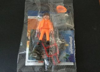 Playmobil - 0000v1-ger - Construction Worker with Wheelbarrow