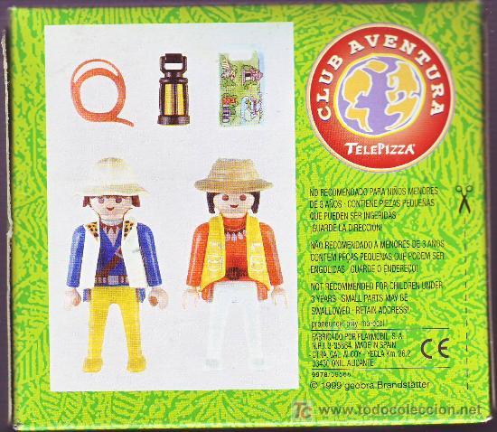 Playmobil 0000v3-esp - Telepizza Give-away Explorers - Back