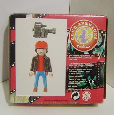 Playmobil 0000v12-esp - Telepizza Give-away Reporter - Back