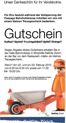 "Playmobil 0000v1-ger - Bauarbeiter mit Schubkarre ""SBB"" - Box"