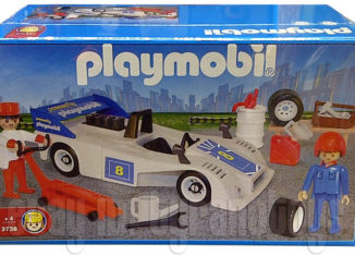 Playmobil - 3738-ant - White Race Car With Crew