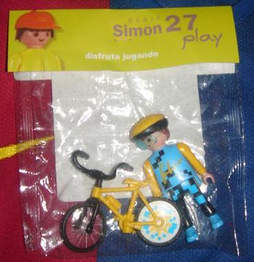 Playmobil 0000v3 -  Cyclist boy - Simon 27 - Box