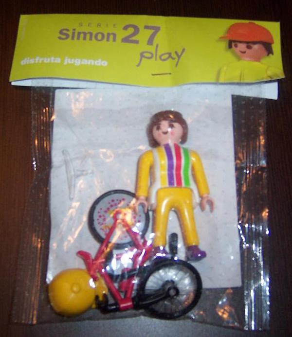 Playmobil 0000v2 -  Cyclist girl - Simon 27 - Box