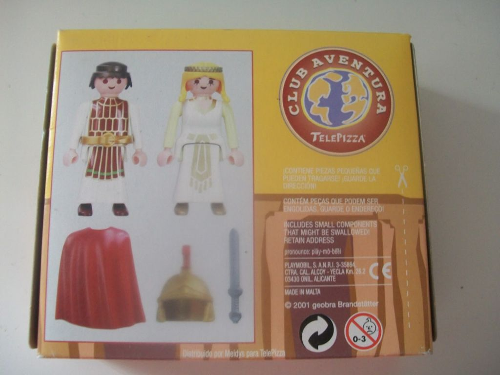 Playmobil 0000-esp - Telepizza Give-away Romans - Back