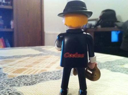 Playmobil 0000v2 -  Saxophone Player - Coolee - Back