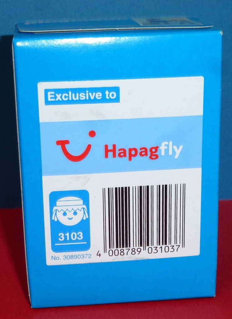 "Playmobil 3103 - Pilot & Stewardess ""Hapag Fly"" - Back"