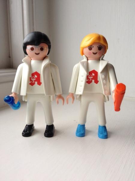 "Playmobil 0000-ger - ""Lauer Fischer"" Apothecaries - Back"