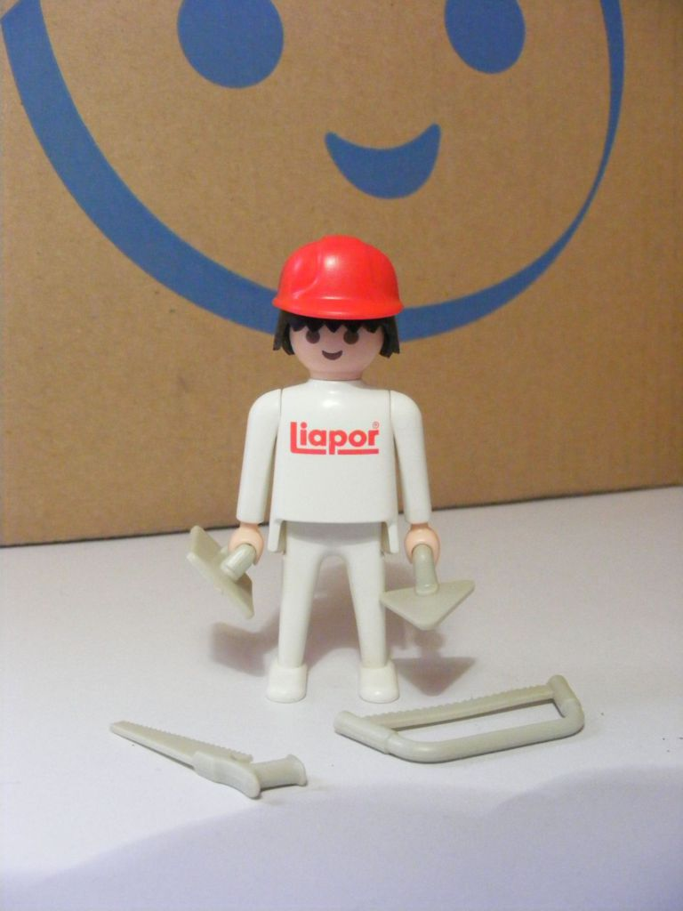 Playmobil 0000-ger - Construction Worker Liapor - Back