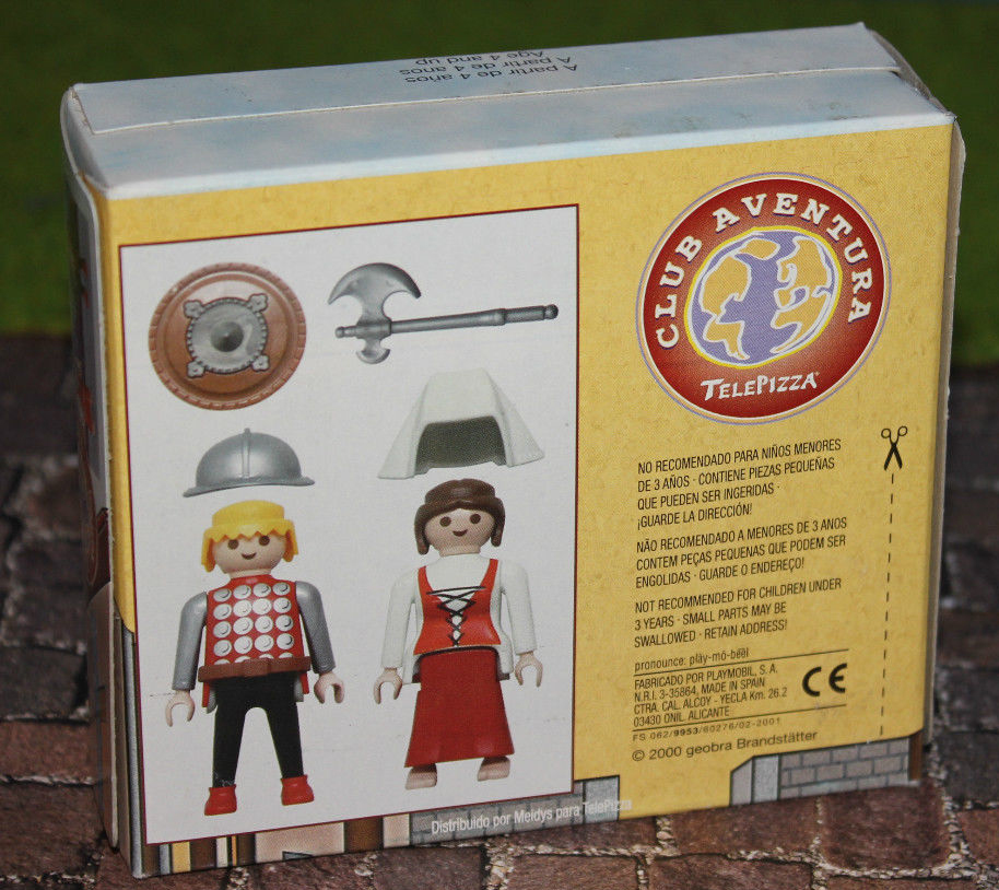 Playmobil 0000v9-esp - Telepizza Give-away Medieval - Back