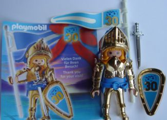 Playmobil - 0000v9-ger - Nüremberg Toy Fair Give-away Golden Knight 30th Anniversary