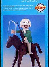 Playmobil - 1L10-lyr - Policeman with Horse