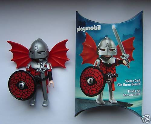 Playmobil 0000-ger - Nüremberg Toy Fair Give-Away Red Dragon Knight - Back