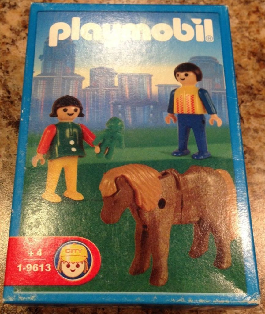 Playmobil 1-9613-ant - Children with Pony - Box