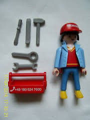 Playmobil 0000-ger - Siemens Technician - Back