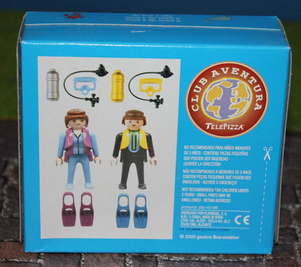 Playmobil 0000v4-esp - Telepizza Give-away Scuba Divers - Back