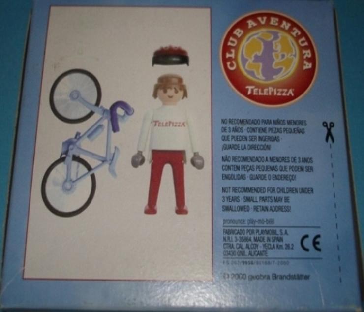 Playmobil 0000v7-esp - Telepizza Give-away Cyclist - Back