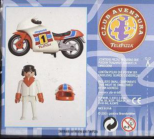 Playmobil 0000v10-esp - Telepizza Racing Bike - Back