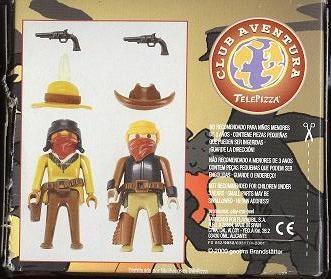 Playmobil 0000v5-esp - Telepizza Give-away Cowboys - Back