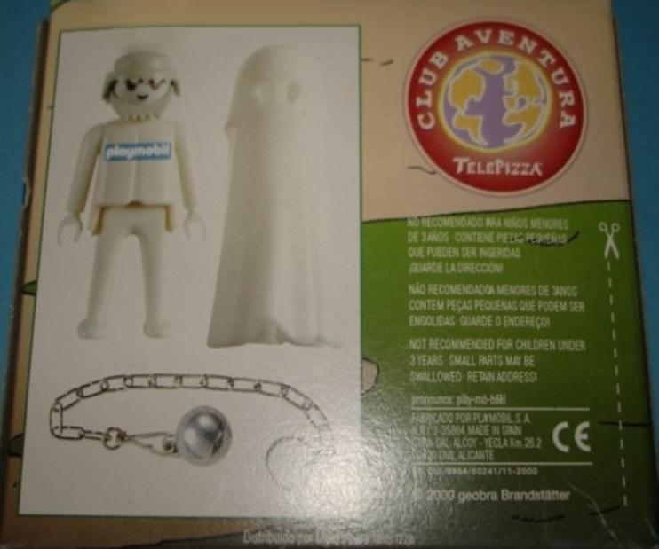 Playmobil 0000v11-esp - Telepizza Give-away Ghost - Back