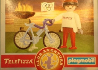 Playmobil - 0000v7-esp - Telepizza Give-away Cyclist