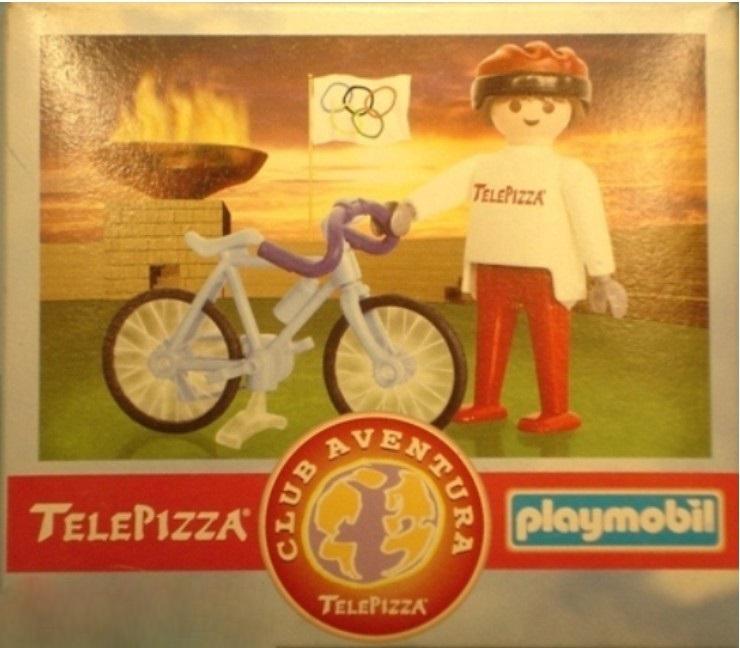 Playmobil 0000v7-esp - Telepizza Give-away Cyclist - Box