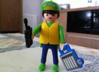 "Playmobil - 0000-ger - Arbeiter ""Weidmüller"" - Promo"