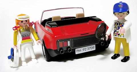 Playmobil 3708 - Red Sportscar - Back