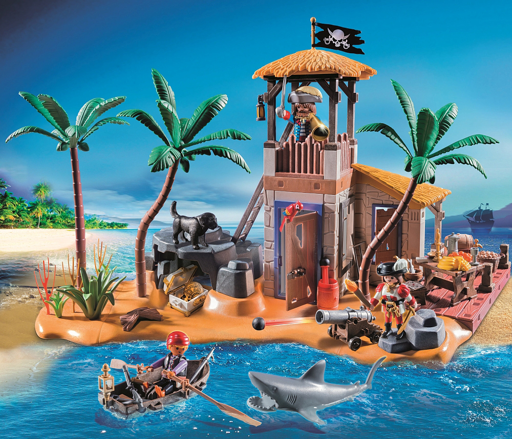 Playmobil 4899 - pirate bay - Back