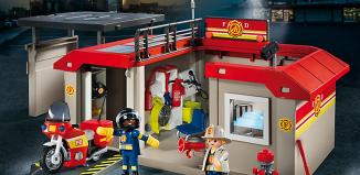 Playmobil - 5663 - Take Along Fire Station