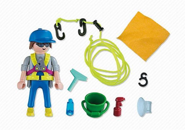 Playmobil 5379 - Cleaner - Back