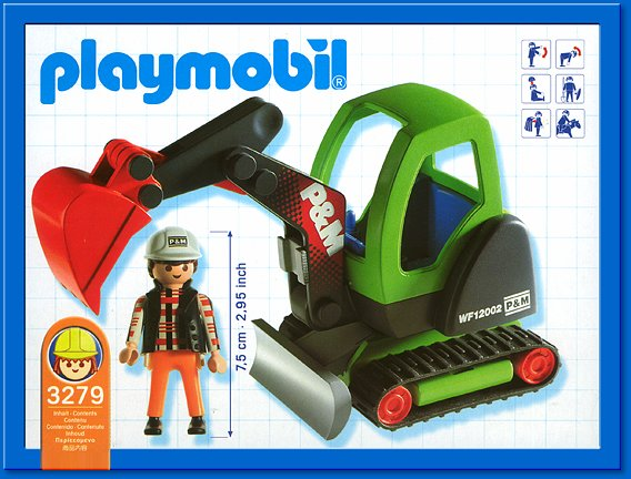 Playmobil 3279s2 - Excavator - Back
