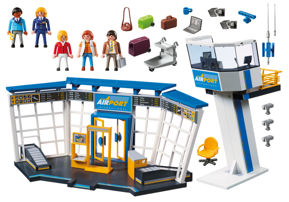 Playmobil 5338 - City-airport with tower - Back