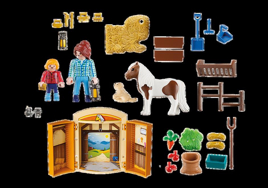 Playmobil 5660-usa - Pony Stable Play Box - Back