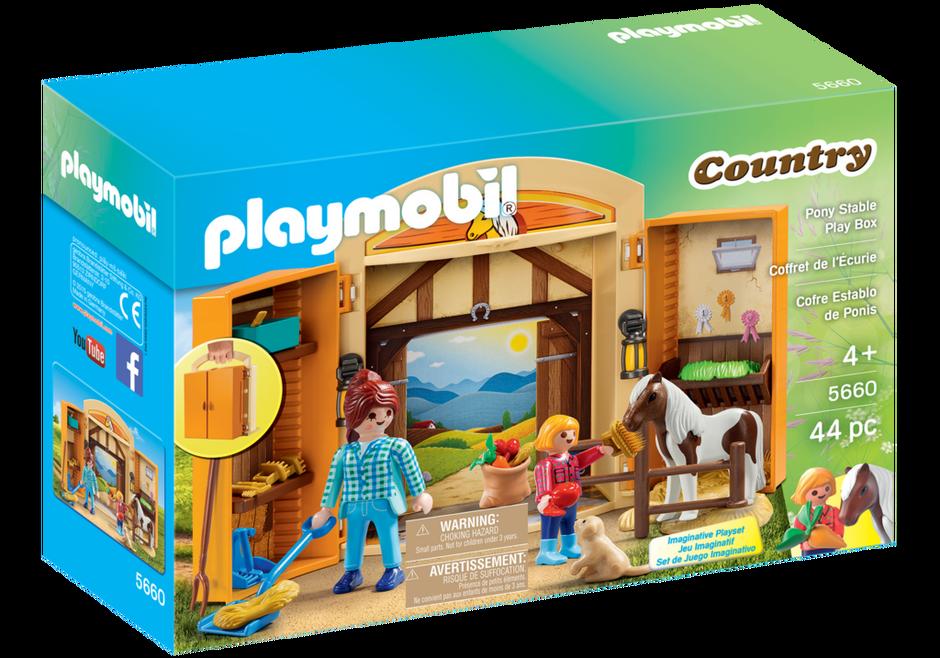 Playmobil 5660-usa - Pony Stable Play Box - Box