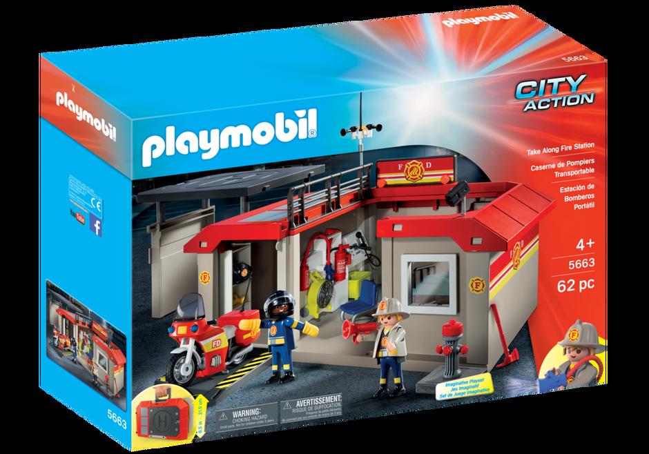 Playmobil 5663 - Take Along Fire Station - Box